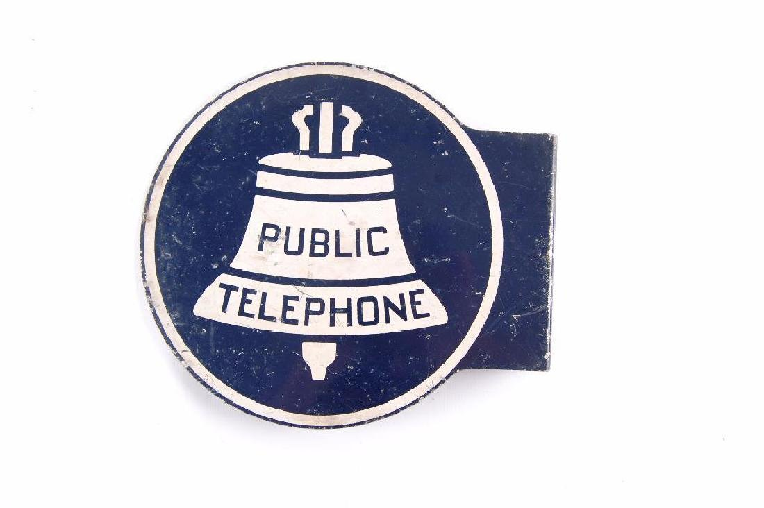 Vintage Bell Systems Public Telephone flanged Metal - 2