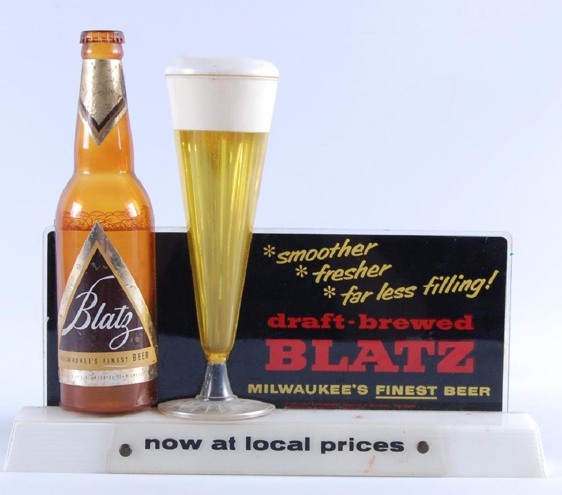 Vintage Blatz Advertising Back Bar Bubbler Beer Display