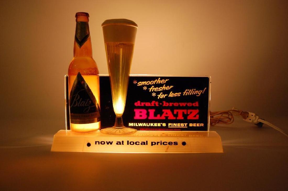 Vintage Blatz Advertising Back Bar Bubbler Beer Display - 2