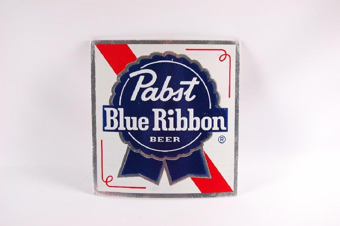 Vintage Pabst Blue Ribbon Cardboard Advertising Sign