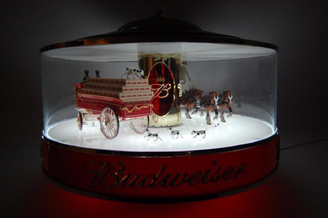 Budweiser Light Up Advertising Rotating Carousel - 10
