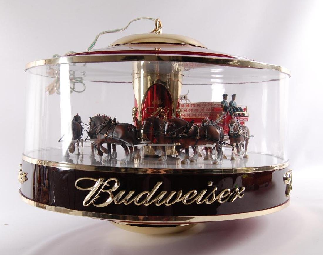 Budweiser Light Up Advertising Rotating Carousel