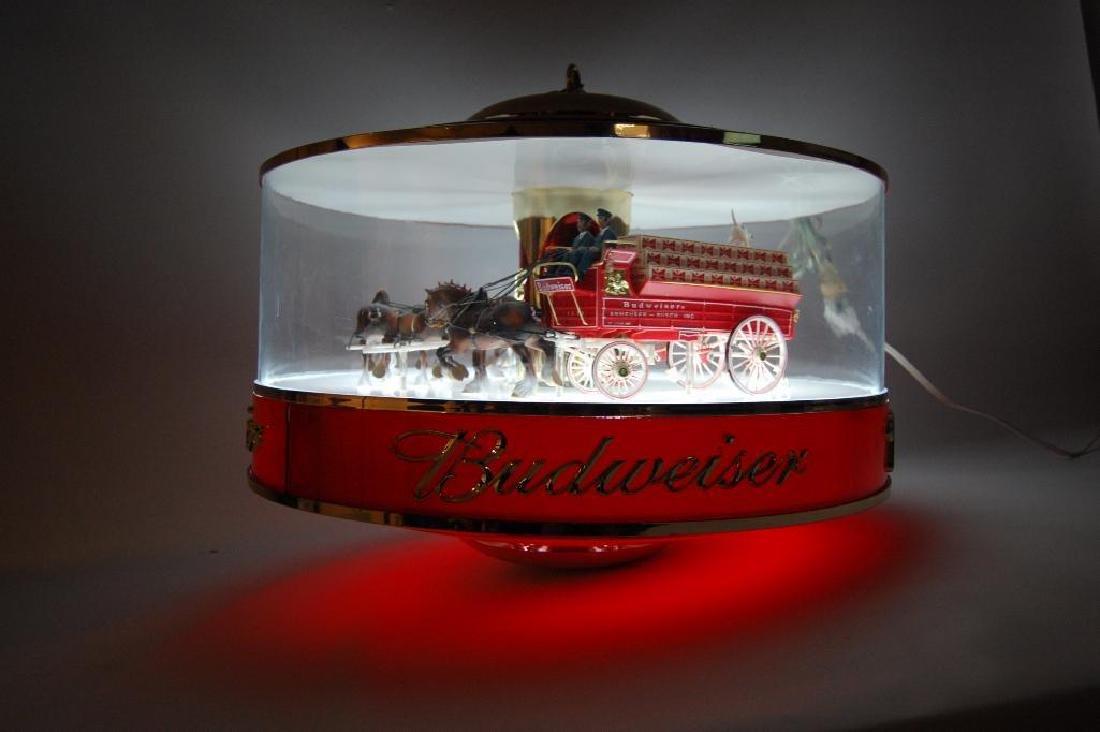 Budweiser Light Up Advertising Rotating Carousel - 2