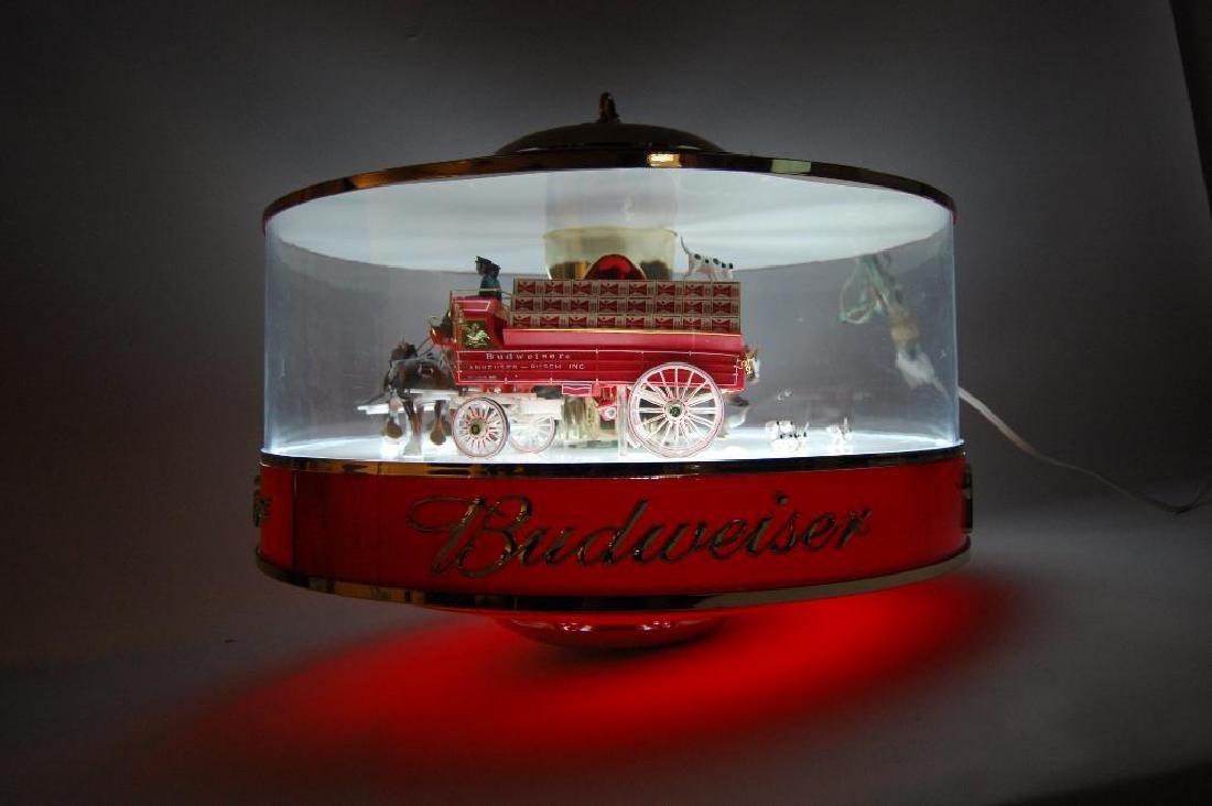 Budweiser Light Up Advertising Rotating Carousel - 3