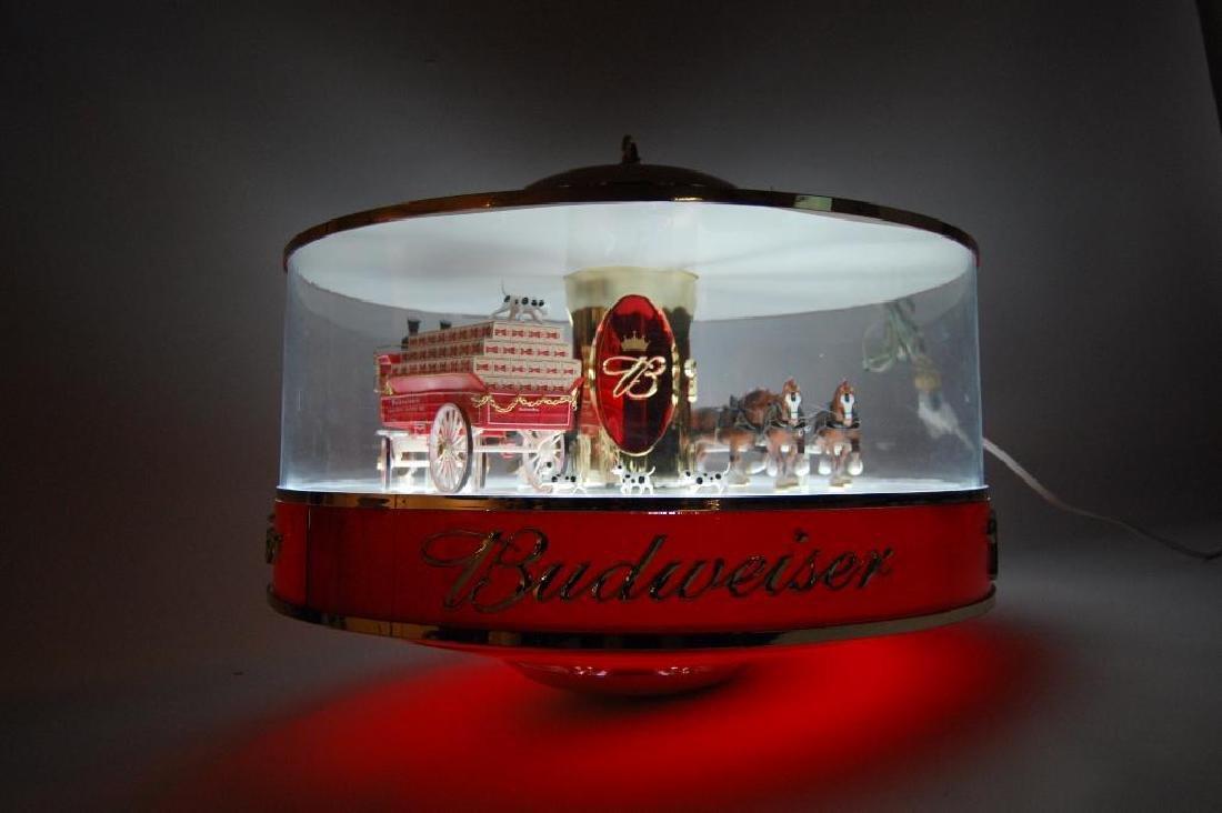 Budweiser Light Up Advertising Rotating Carousel - 4