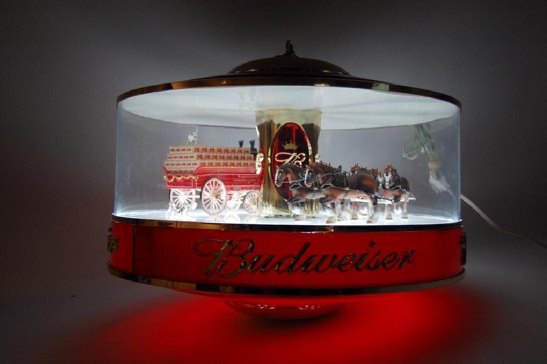 Budweiser Light Up Advertising Rotating Carousel - 5
