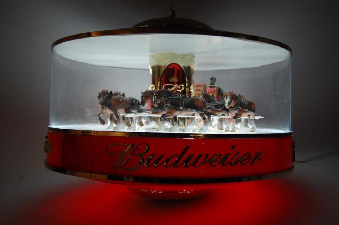 Budweiser Light Up Advertising Rotating Carousel - 6