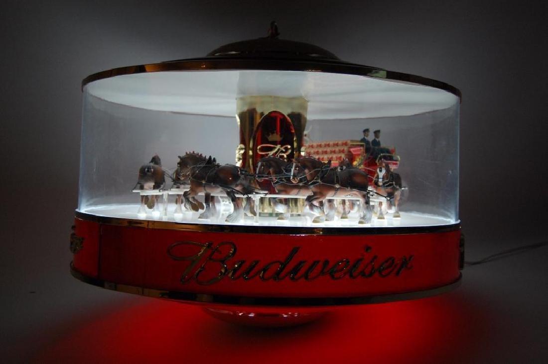 Budweiser Light Up Advertising Rotating Carousel - 7
