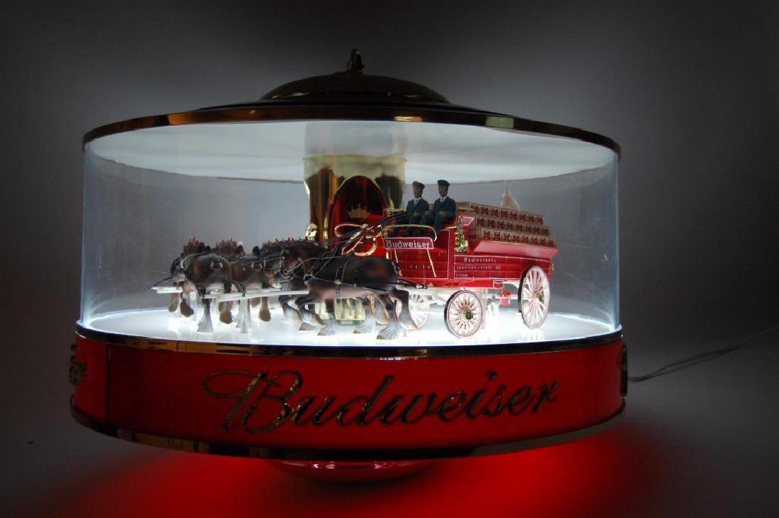 Budweiser Light Up Advertising Rotating Carousel - 8