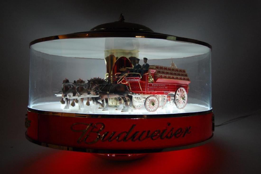 Budweiser Light Up Advertising Rotating Carousel - 9