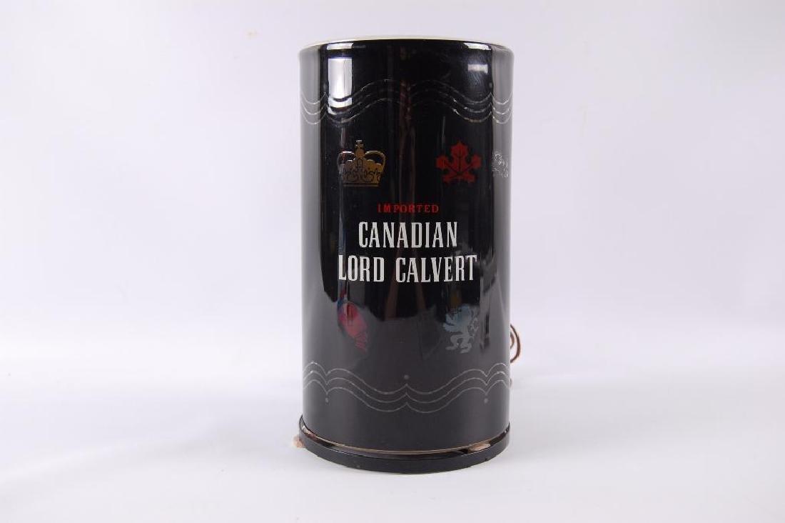 Vintage Canadian Lore Calvert Advertising Motion Lamp