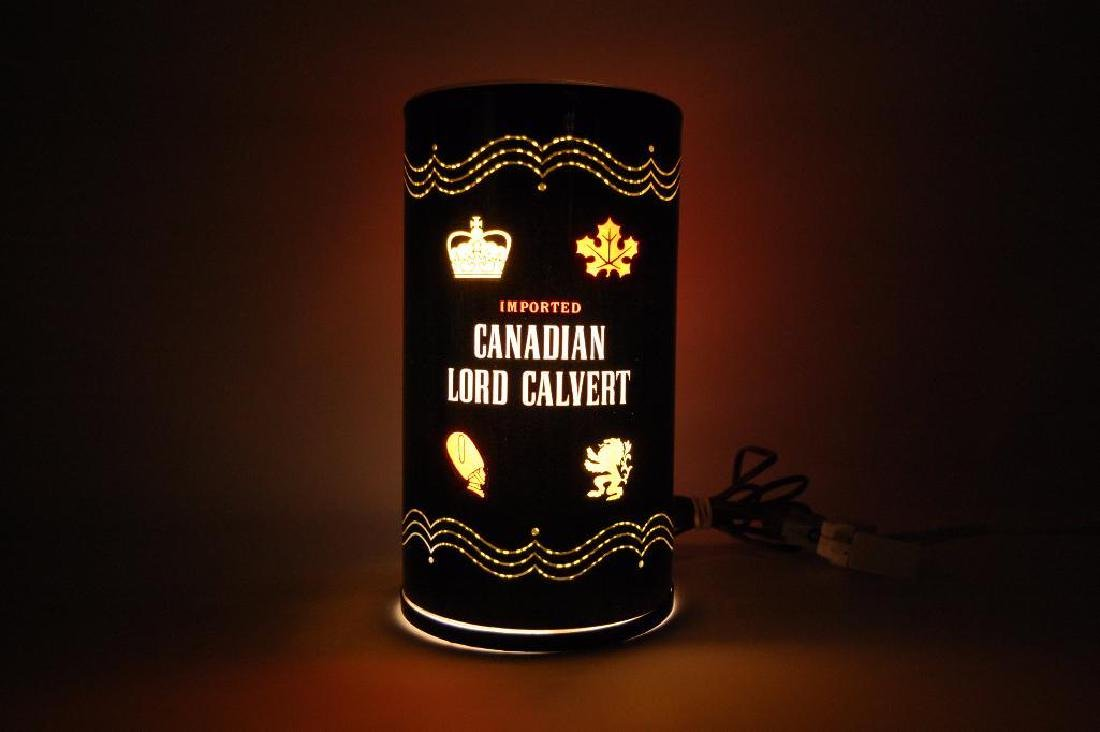 Vintage Canadian Lore Calvert Advertising Motion Lamp - 2