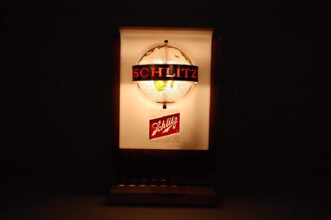 Vintage Schlitz Galaxy Light Up Advertising Cash - 2
