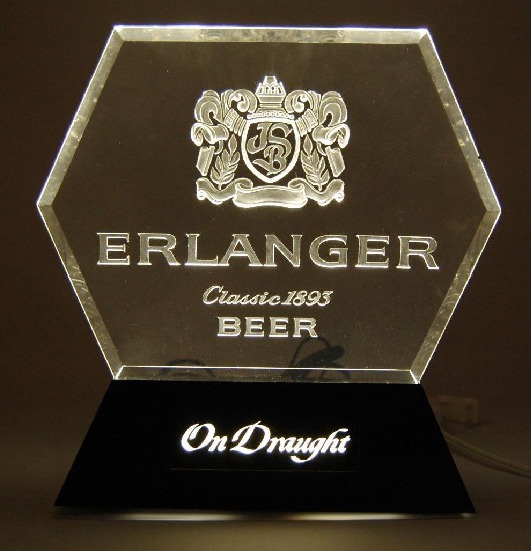 "Erlanger ""On Draught"" Light Up Advertising Beer Sign"