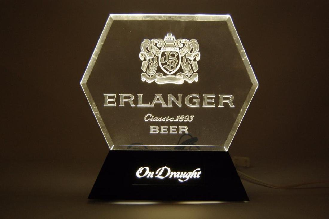 "Erlanger ""On Draught"" Light Up Advertising Beer Sign - 2"
