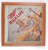 Miller High Life First Flush Advertising Beer Mirror