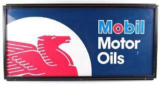 Vintage Mobil Motor Oil Pegasus Advertising Metal Sign