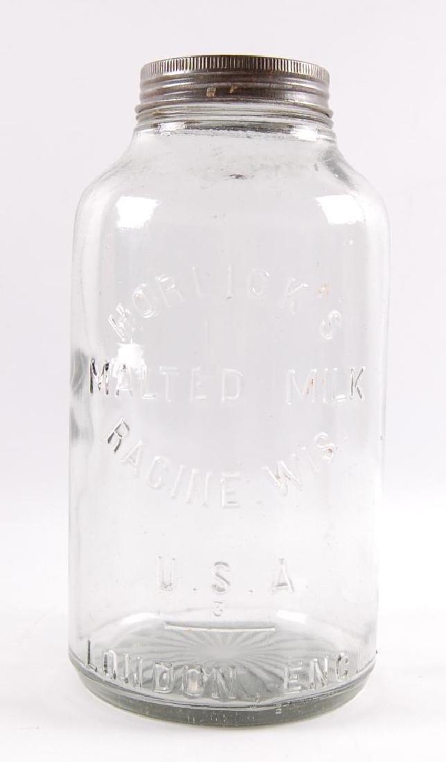 Vintage Horlick's Malted Milk Advertising Ball Jar