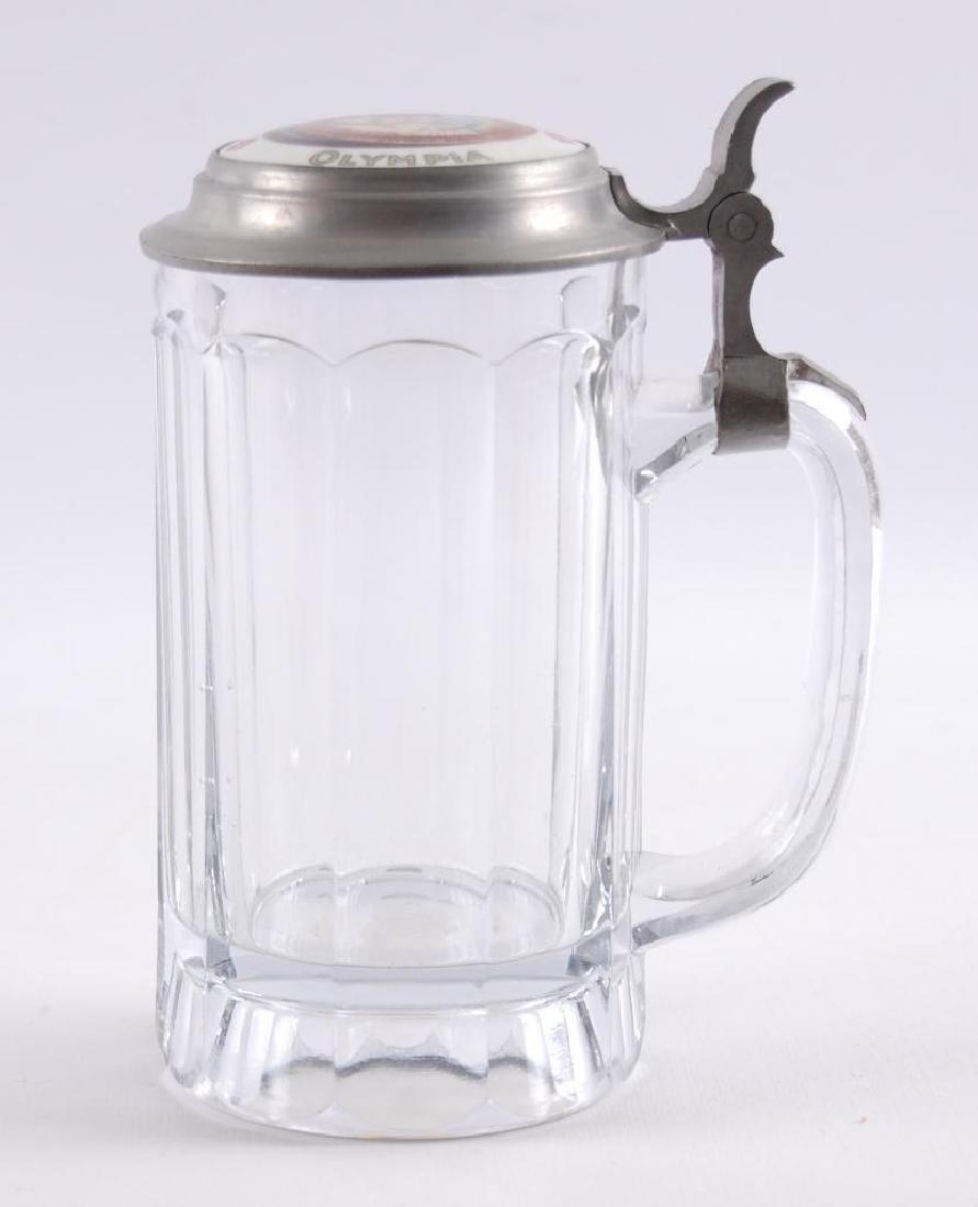 Vintage Olympia Beer Advertising Glass Stein
