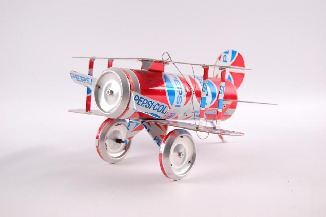 Vintage Pepsi-Cola Can Bi-Plane