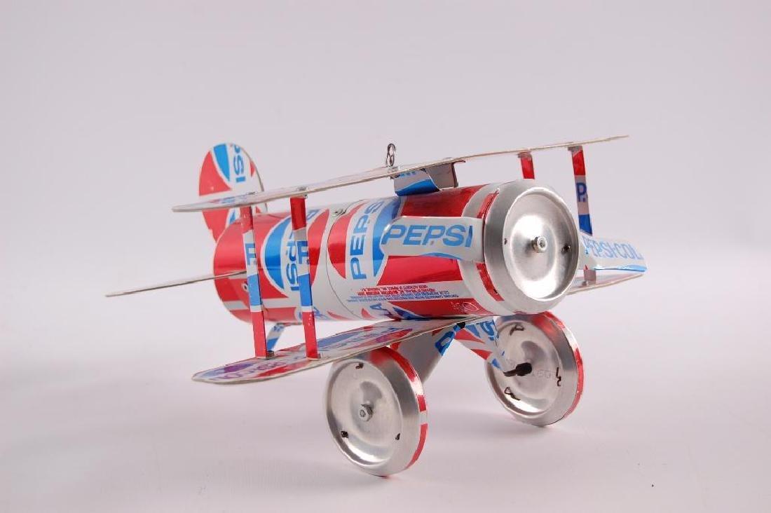Vintage Pepsi-Cola Can Bi-Plane - 2