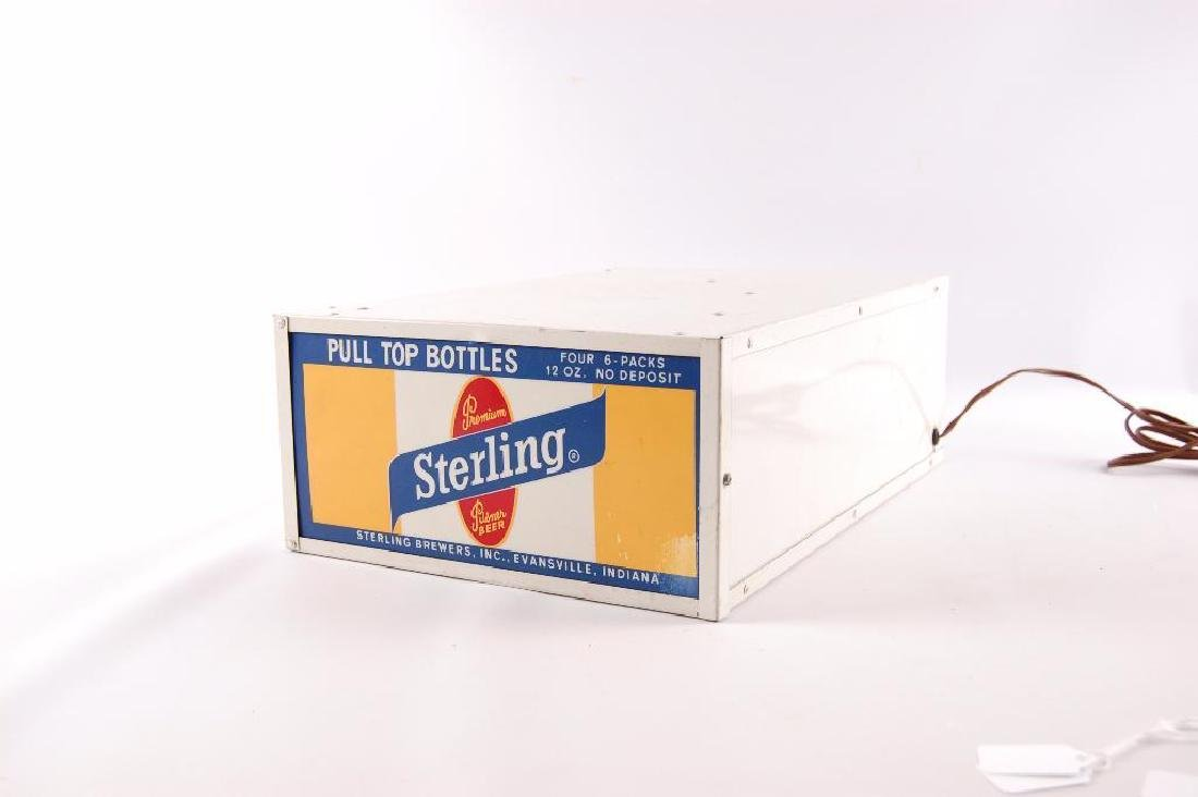 Vintage Sterling Light Up Advertising Base - 2