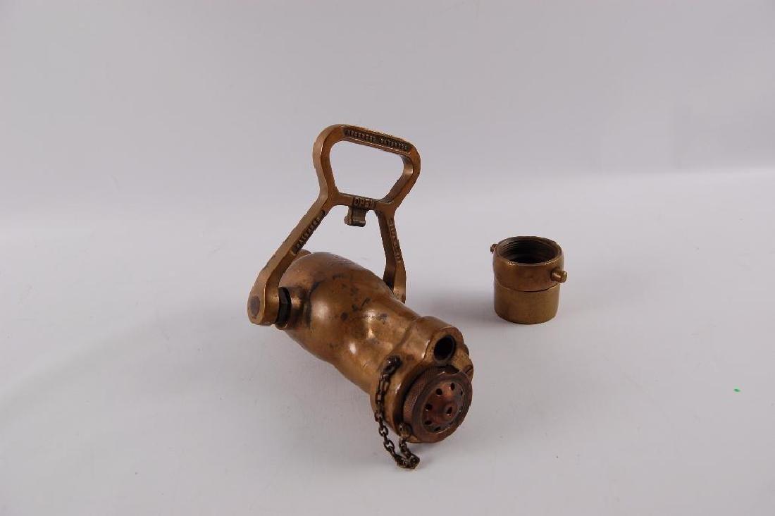 "Vintage Brass Rock Wood ""Fire Fog: Fire Hose Nozzle - 2"