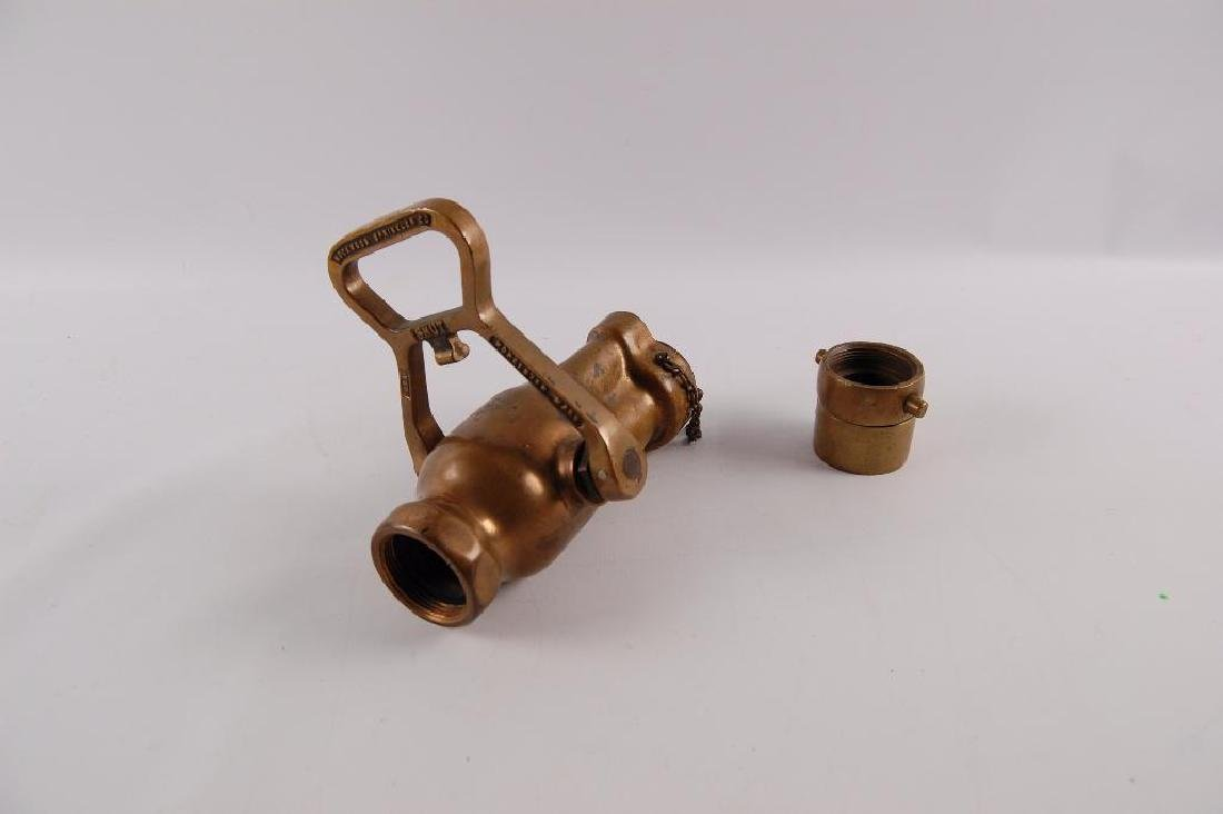 "Vintage Brass Rock Wood ""Fire Fog: Fire Hose Nozzle - 3"