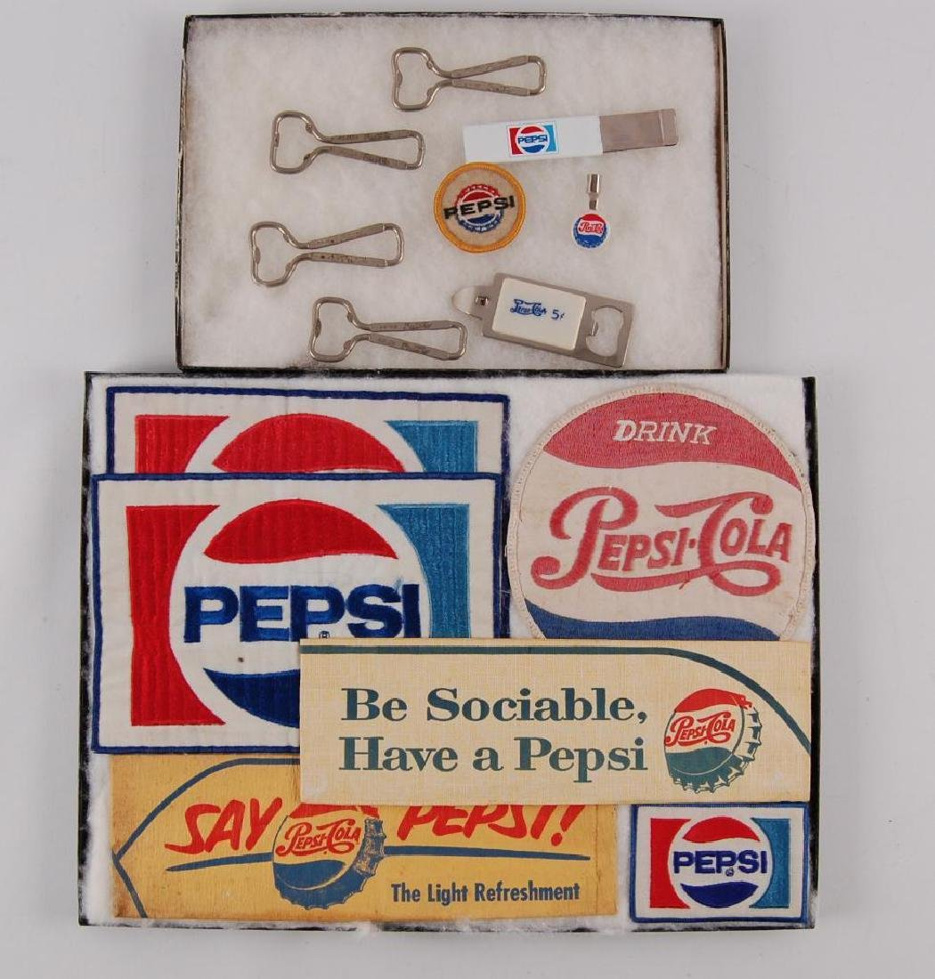 Group of Vintage Pepsi-Cola Advertising Items
