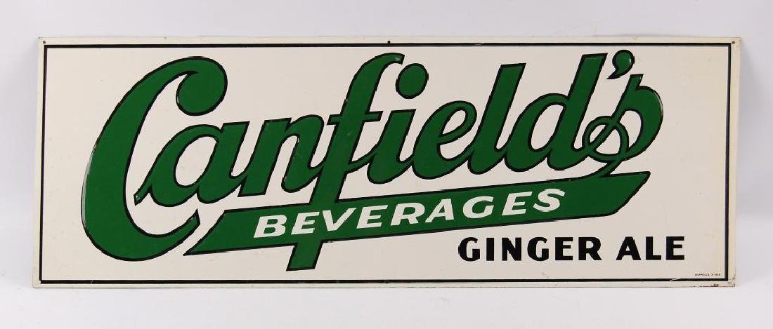 Vintage Canfields Beverages Ginger Ale Advertising