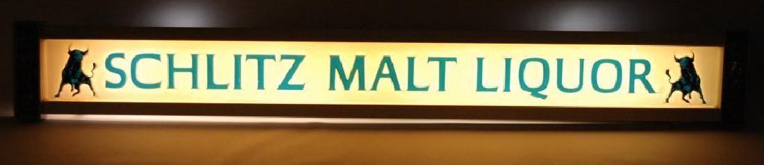 Vintage Schlitz Malt Liquor Light Up Advertising Beer - 2