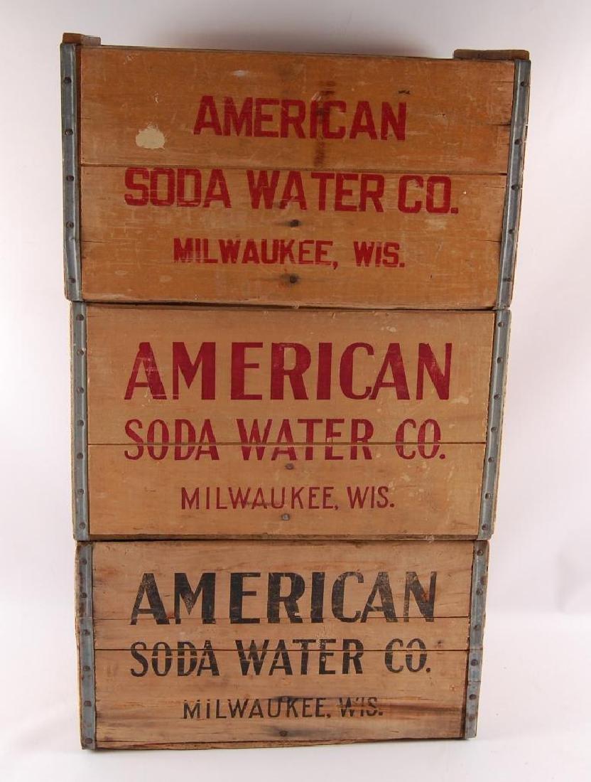 Group of 3 Vintage American Soda Water Advertising Wood