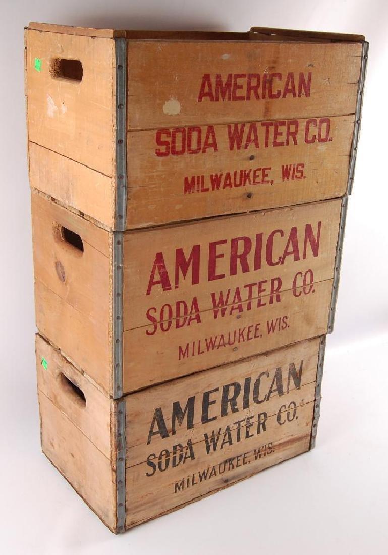 Group of 3 Vintage American Soda Water Advertising Wood - 2