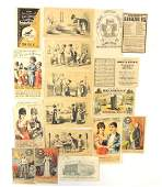 Group of Victorian trade cards