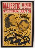 The Majestic Theatre LaSalle Il Vintage Three Blind
