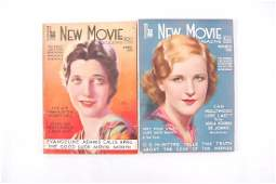 """Group of 2 Antique """"The New Movie"""" Magazines"""