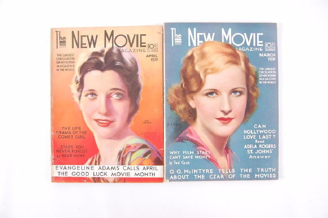 "Group of 2 Antique ""The New Movie"" Magazines"