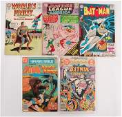 Group of 5 Vintage DC Comic Books Featuring Batman and