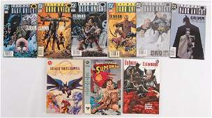 Group of 9 DC Comic Books Featuring The Death of