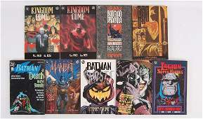 Group of 9 DC Comic Books Featuring Batman and Kingdom