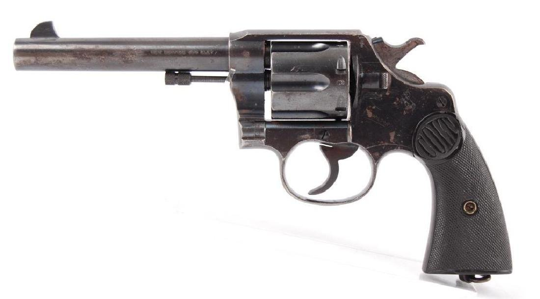Colt New Service 455 Eley Double Action Revolver with - 5