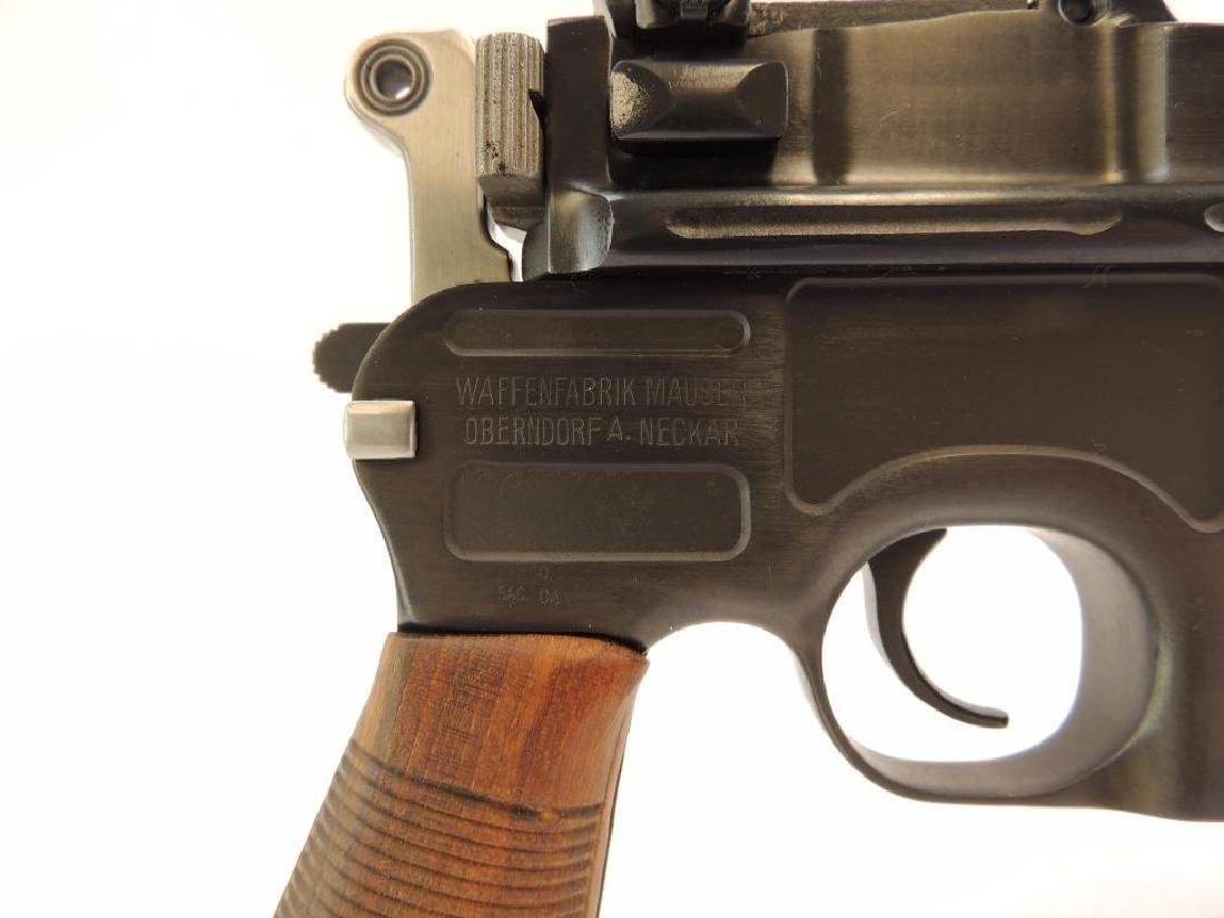 Broom Handle Mauser C96 9mm Parabellum Semi Auto Pistol - 6
