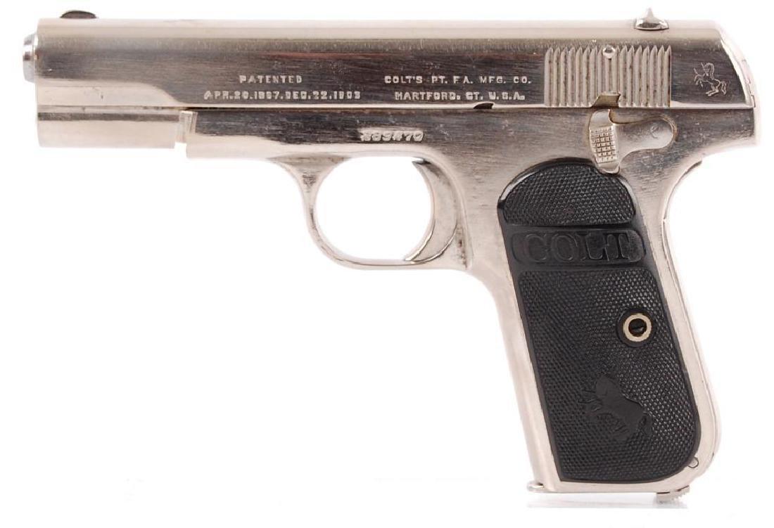 Colt Automatic .32 Cal. Semi Auto Nickel Plated Pistol