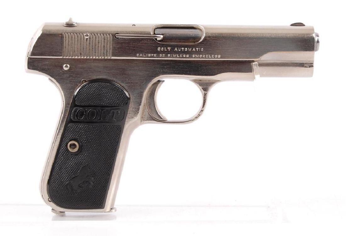 Colt Automatic .32 Cal. Semi Auto Nickel Plated Pistol - 2