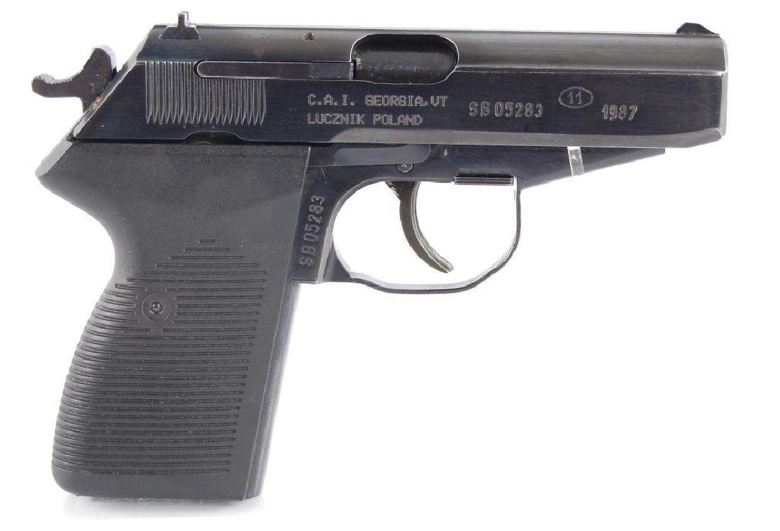 Polish P-83 9mm Semi Automatic Pistol with Leather