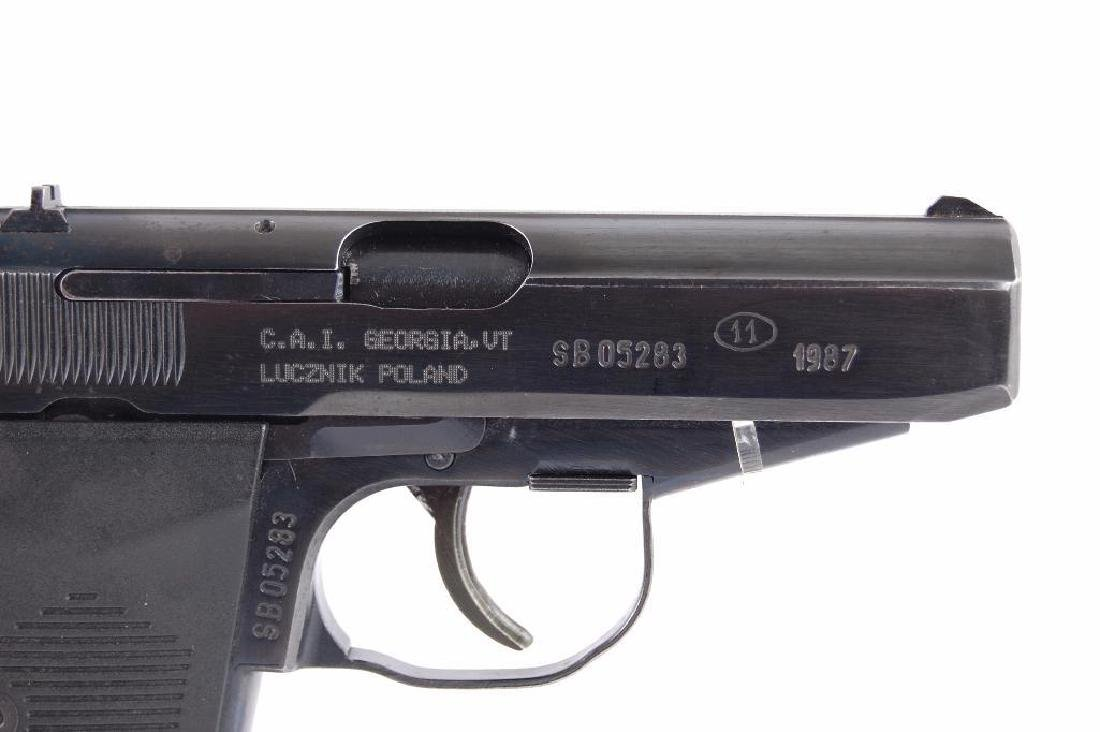 Polish P-83 9mm Semi Automatic Pistol with Leather - 2