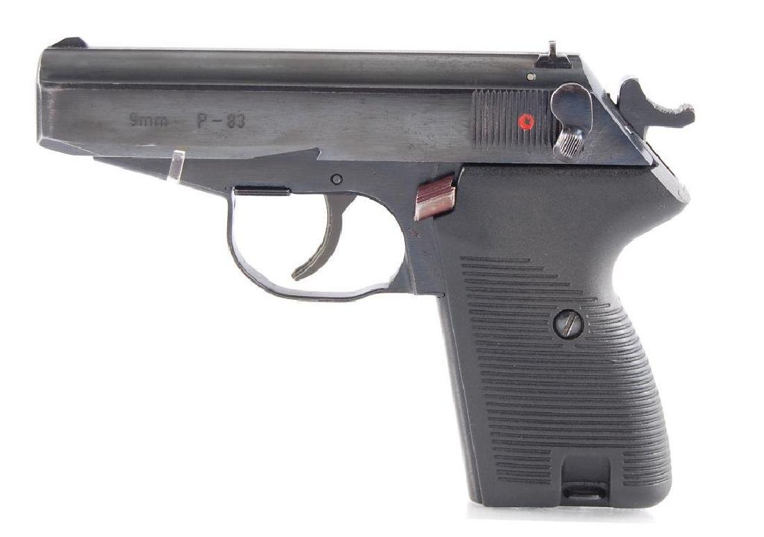 Polish P-83 9mm Semi Automatic Pistol with Leather - 3