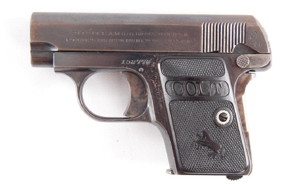 Colt Model 1908 Hammerless 25 Auto Semi Automatic