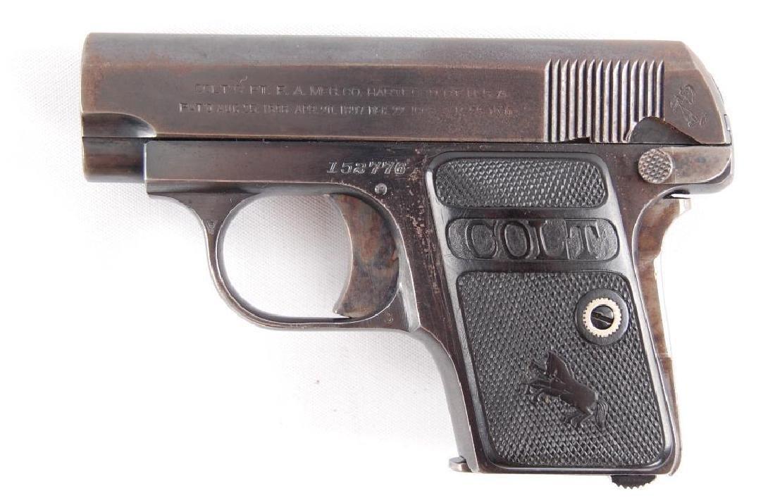 Colt Model 1908 Hammerless 25 Auto Semi Automatic