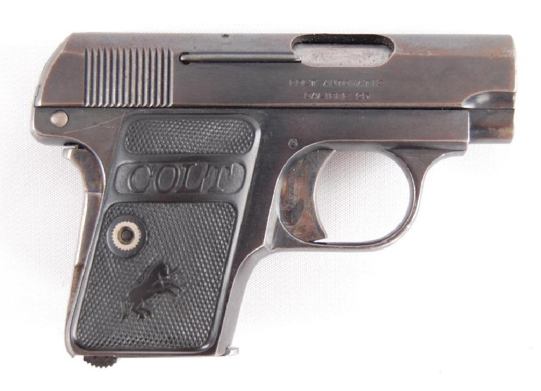 Colt Model 1908 Hammerless 25 Auto Semi Automatic - 2